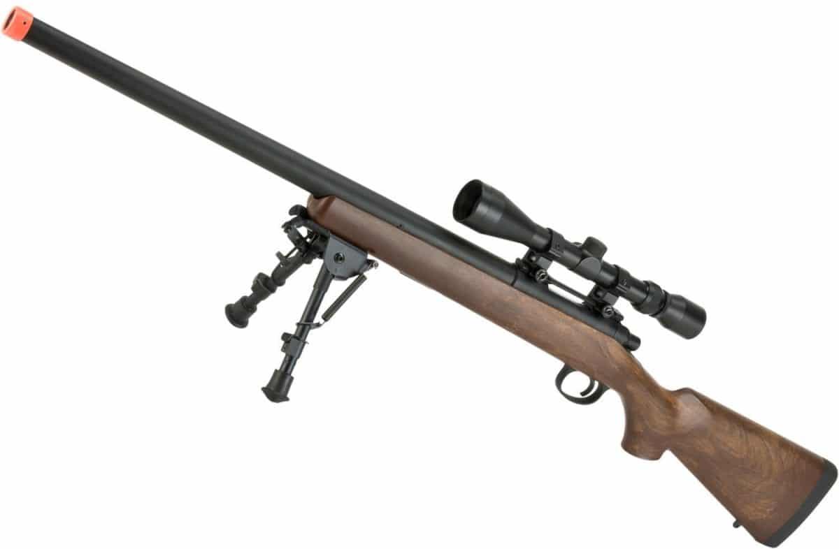 airsoft sniper rifle bolt action evike cyma vsr wood scope rail fps cheap guns rifles spring under m700 manual imitation