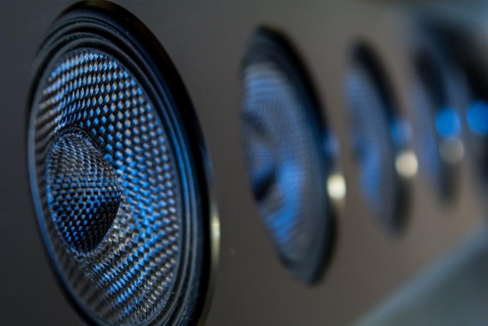 closeup of soundbar