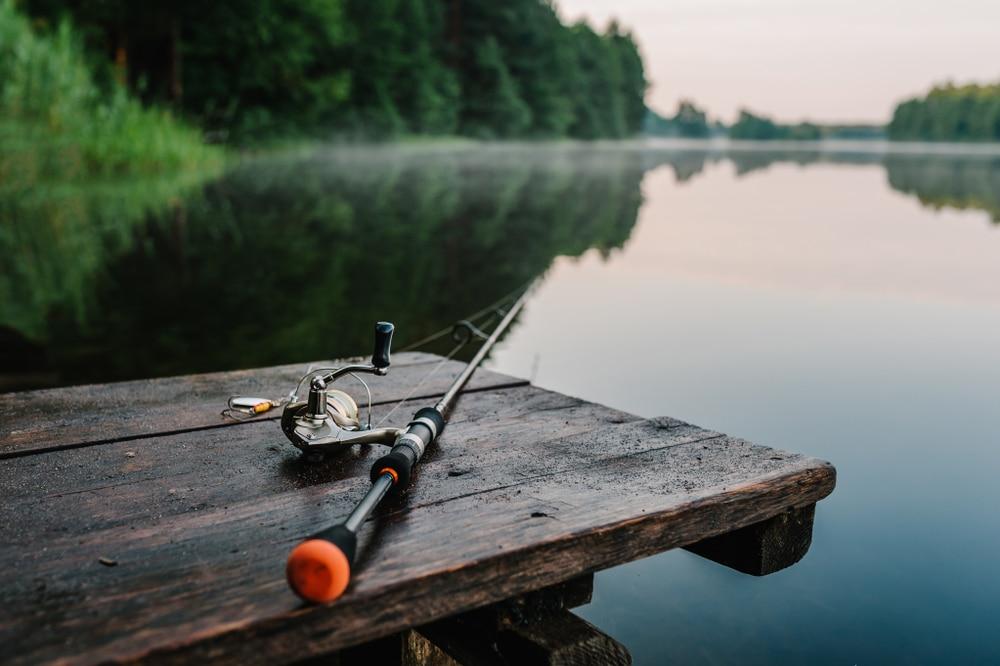 fishing rod on table