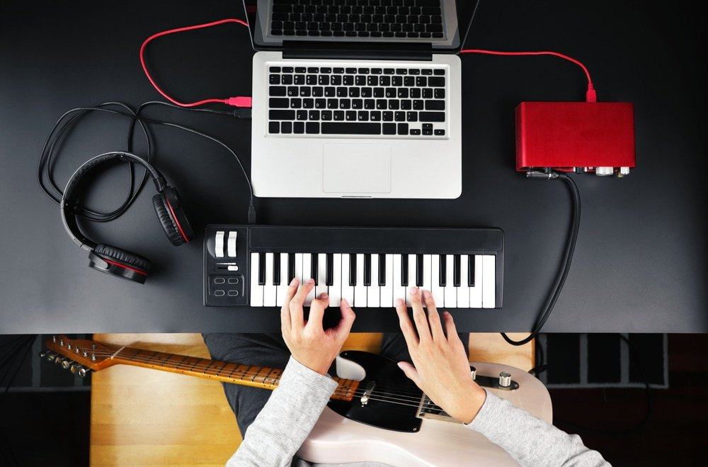 composing with a MIDI keyboard