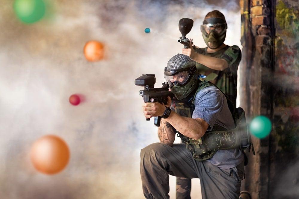 paintball gun fight