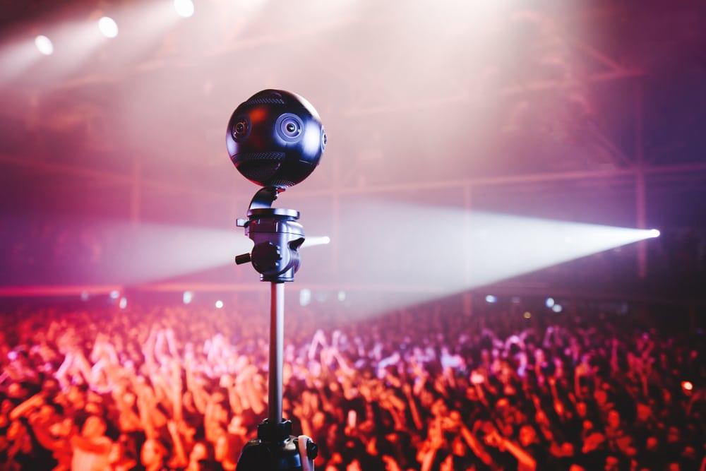360 camera at music festival