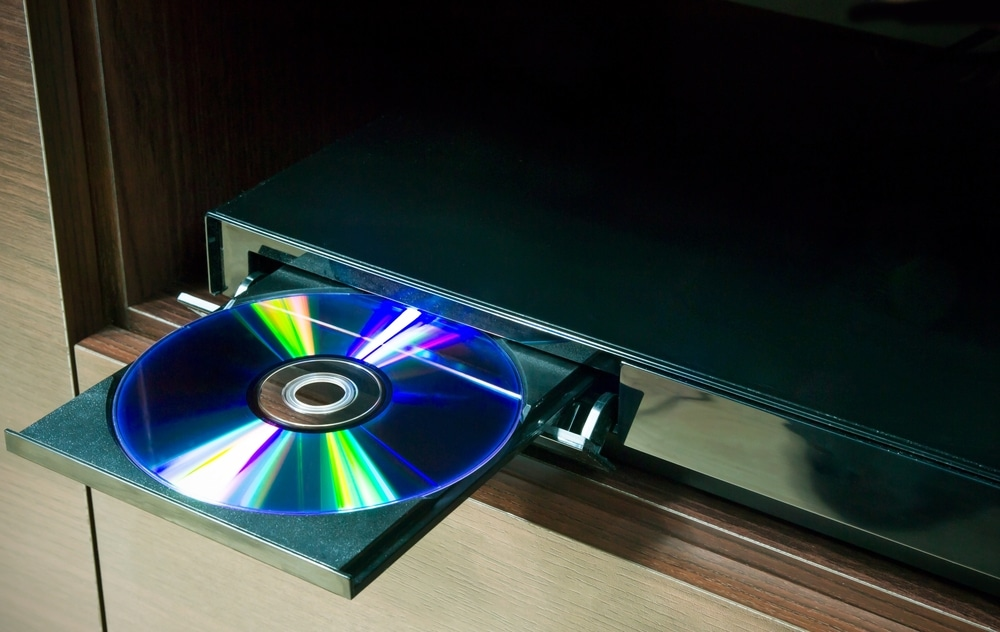 disc in Blu-ray player