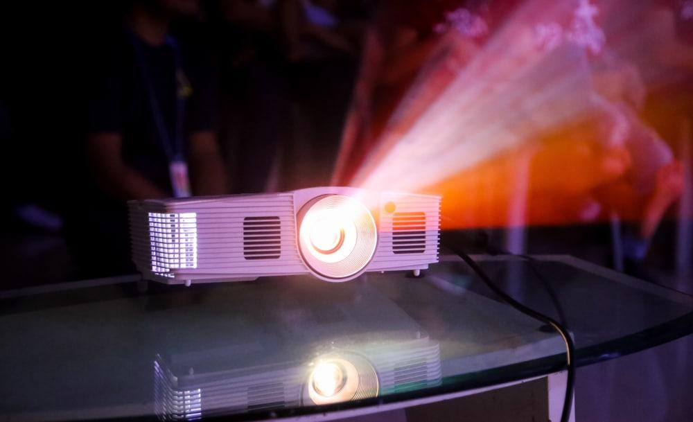 closeup multimedia projector